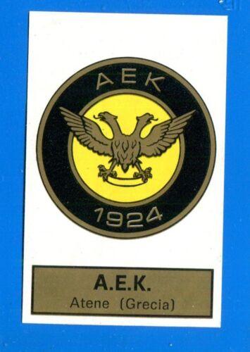105 CALCIATORI PANINI 1971-72 AEK ATENE SCUDETTO Rec Figurina-Sticker n