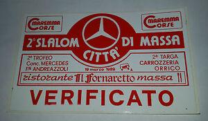 Adesivo-Sticker-VERIFICATO-2-Slalom-citta-di-Massa-19-marzo-1989-cm-11-x-7