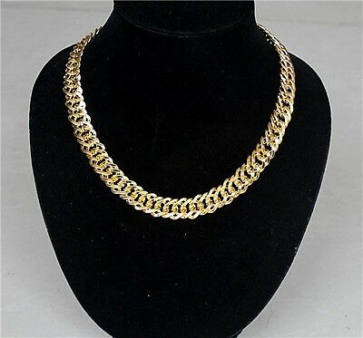 Nice Desing Ladies Fashion Gold Plated Metal Chunky Link Chain Choker Necklace