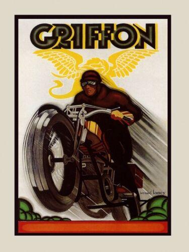 Griffon Motorcycle Bike Race Grand Prix Speed Sport Vintage Poster Repro FREE SH