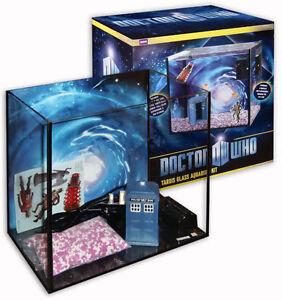 Doctor who 4 gallon glass aquarium starter kit with tardis for 50 gallon fish tank starter kit