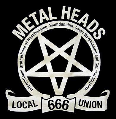 METALHEADS UNION Local 666 PENTAGRAM SHIRT SMALL New heavy metal