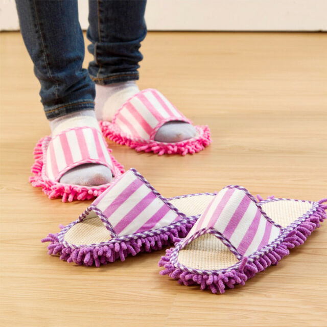 Shoe Slippers Cleaning Non-Slip House Clean Polishing Microfibre New SALE