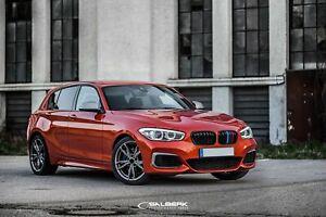 Nieren schwarz hochglänzend BMW 1er F21 LCI Grill Salberk ...