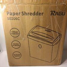 Ragu Paper Shredder 6 Sheet Capacity Cross Cut Paper And Credit Card Shredder