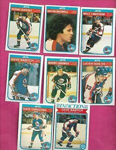 1982-83-OPC-WINNIPEG-JETS-EX-MT-CARD-LOT-INV-C2015