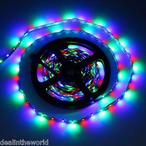 5m-300-LEDs-Epistar-SMD-3528-Flexible-de-colores-Tira-Luz-Con-Mando-a-distancia