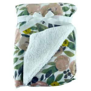 Olives-Mink-Sherpa-Fleece-Baby-Crib-Pram-Moses-Blanket-75-x-100cm