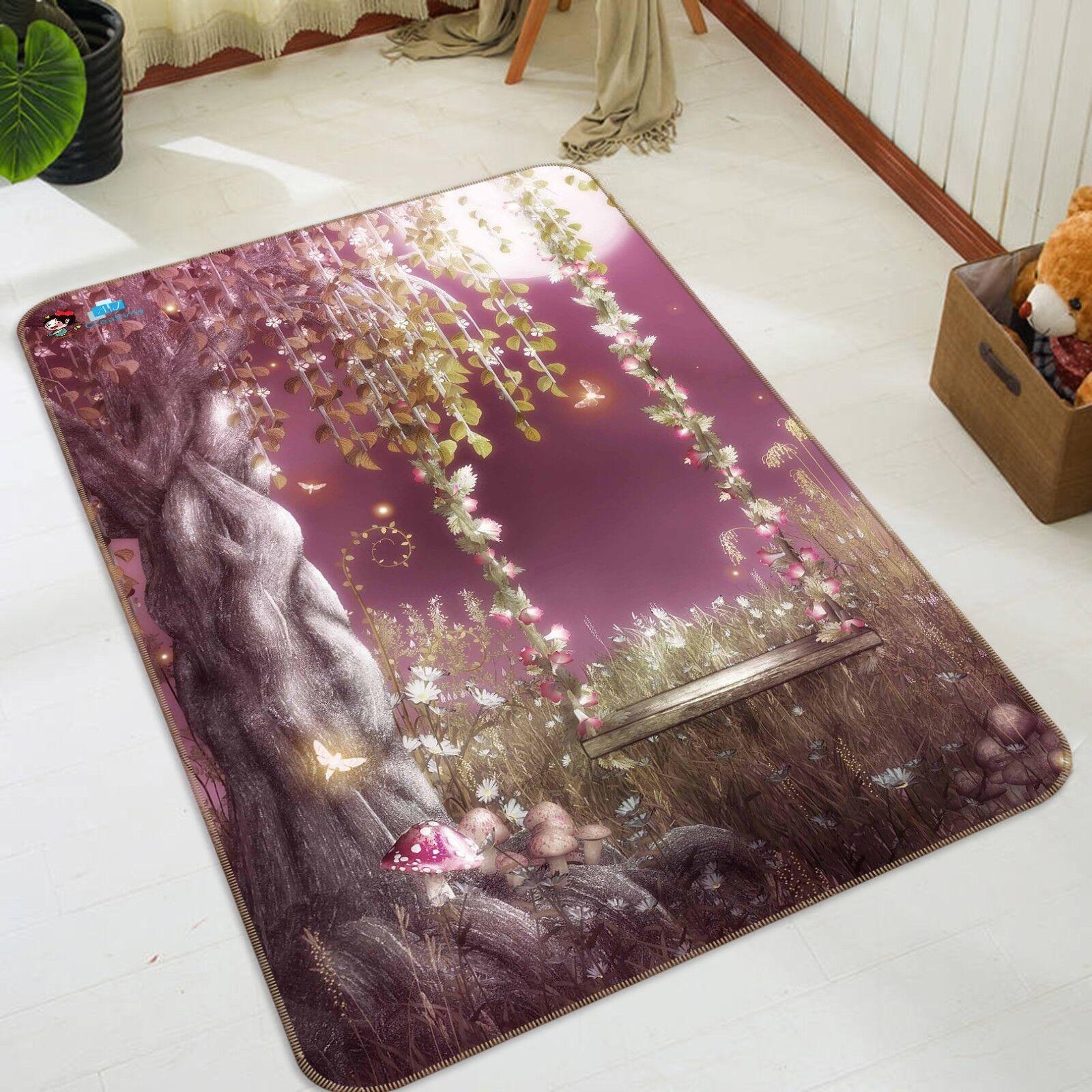 3D Tree Vine Swing 301 Non Slip Rug Mat Room Mat Quality Elegant Photo Carpet AU