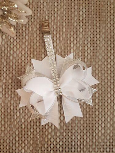 Pram charm girl romany bling white clip  stunning