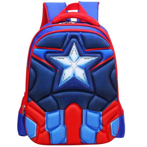 Kids Girls Boys 3D Superherp School Book Bag Backpack Satchel Large Rucksack