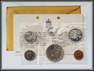 1965-Silver-Canada-Proof-like-Coin-Mint-Set-Sealed-Original-Canadian-PL-Coins