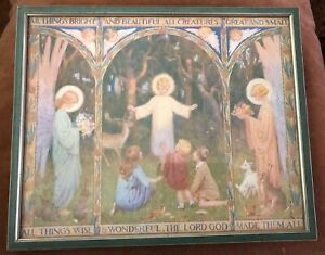 Margaret-Tarrant-Vintage-framed-print-All-things-bright-and-beautiful-Bible