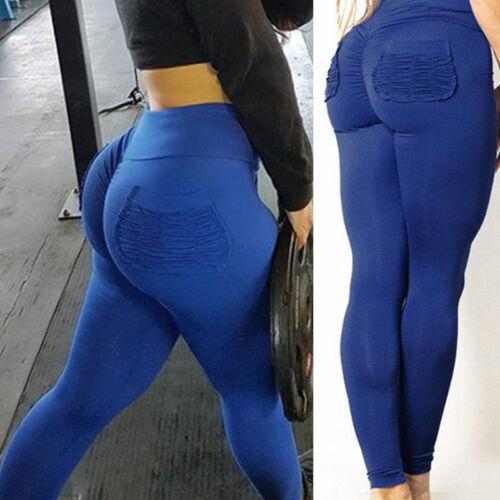 Women Pockets Compression Yoga Leggings Fitness Sport Gym Workout Stretch Pants