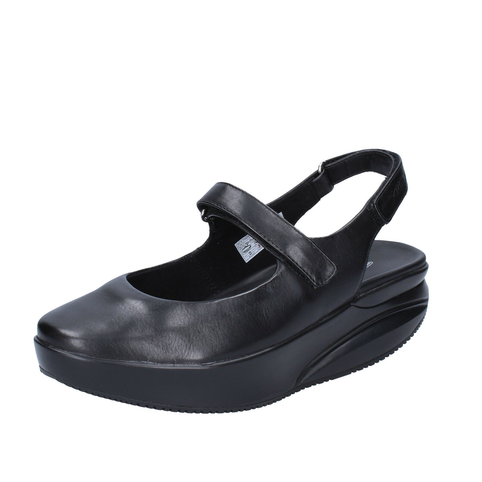 Womens shoes MBT Koffi 39 EU Ballerinas Black Leather Dynamic bx889-39