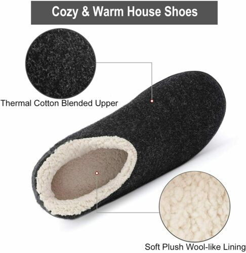Details about  /ULTRAIDEAS Women/'s Cozy Memory Foam Closed Back Slippers with Warm Fleece Lining