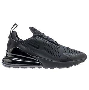 3a2e72ba710 Nike Air Max 270 Mens AH8050-005 Triple Black Mesh Knit Running ...