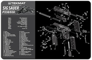 image is loading tek-mat-for-sig-sauer-p938-armorers-gun-