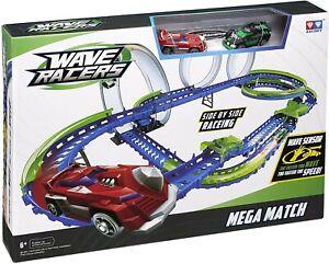 WAVE-RACERS-AULDEY-MEGA-MATCH-per-Bambini-Set-Gioco-Pista-da-Corsa-con-auto-NUOVO-CON-SCATOLA