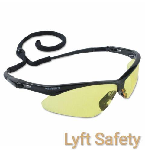 JACKSON NEMESIS 25659 V30 ANSI Safety Amber Lense Black Eye Protection~PICK SIZE