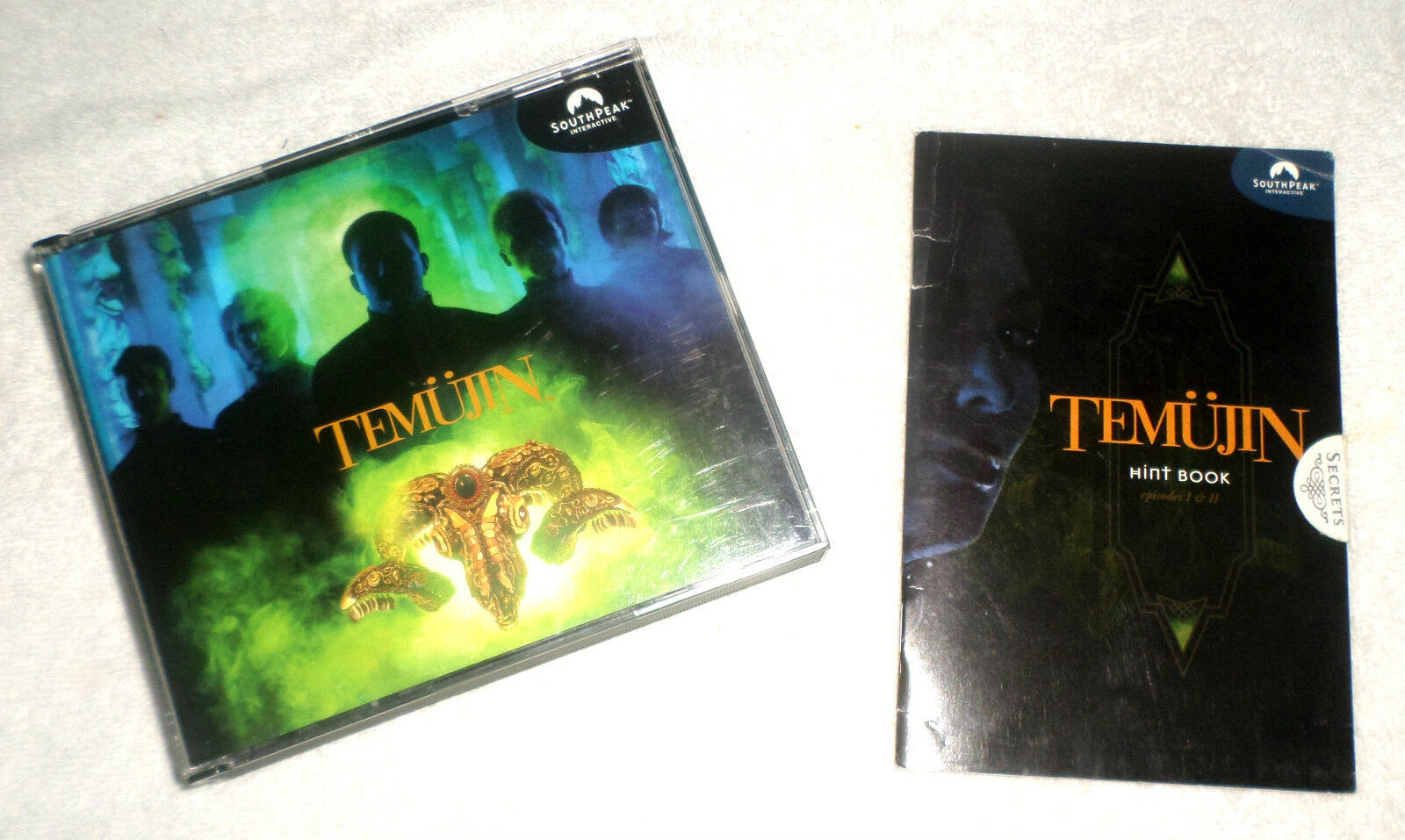 TEMUJIN  6 pristine CDs, artwork JC, 16-page Player's Guide, 20-pg Hint Book