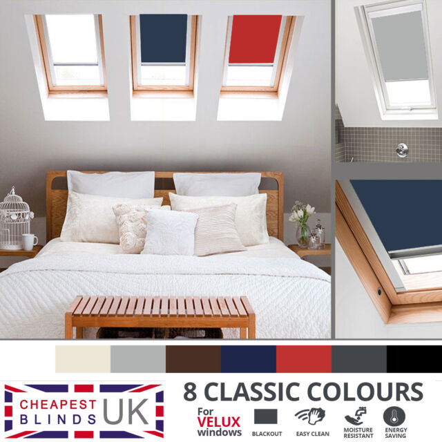 Blackout Thermal Roller Roof Skylight Blinds For All Velux Windows 8 Colours