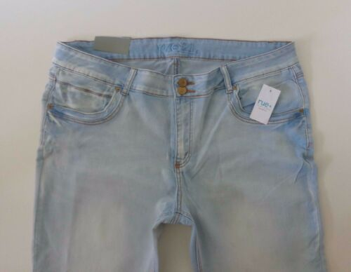NWT 24 //22 Plus S RUE21 Stretch Freedom Flex Skinny Mid Rise Jegging Light Jeans