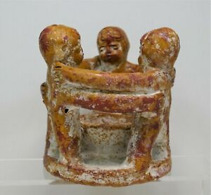 Vintage Central American Folk Art Clay Mayan Aztec Sculpture