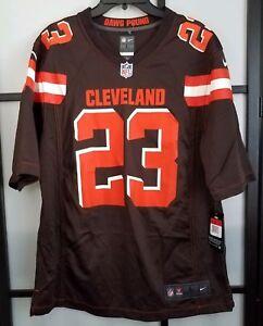 768d04b5b Men s Nike Cleveland Browns Joe Haden Nike Brown Game Jersey Size ...