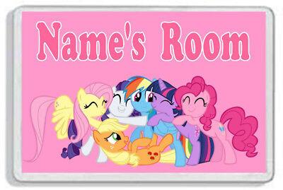 Personalised My Little Pony Kids Bedroom Door Plaque *SIZE = 9.5 x 6.5 cm*