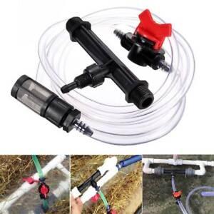 Irrigation Venturi Fertilizer Injectors Water Tube Switch Filter Kit T Nt