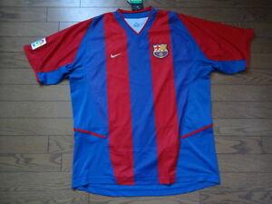 new arrival bf819 7a3d5 Details about FC Barcelona 100% Original Jersey Shirt XL 2002/03 Home Still  BNWT Rare Rare