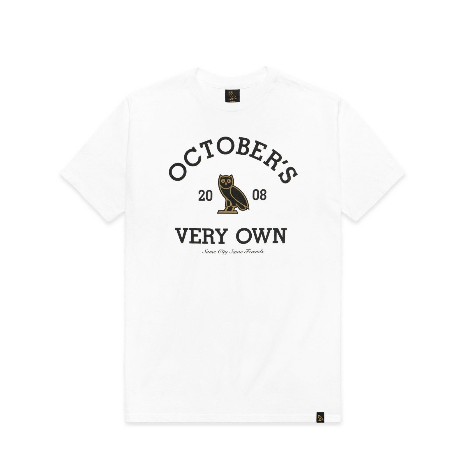 NEW October's Very Own OVO Collegiate Tee White LARGE Drake T-Shirt LG BNWT