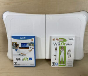 Wii Balance Board Bundle W/ Wii Fit Plus Game & Wii Fit U Tested Fitness Workout