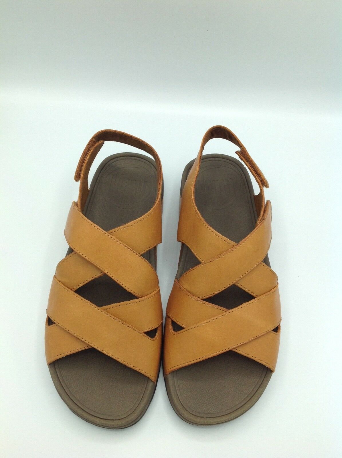 Brand New Men FitFlop NEXX Sandals Leather Camel US Size 12