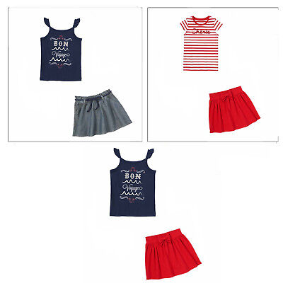 NWT Girl 5 Gymboree PARISIAN AFTERNOON 2pc Navy SHORTS /& WHITE SHIRT TOP BOW SET