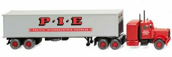 Express contenedores SZ 0527 06 1//87 Wiking Peterbilt Pacific Intermount