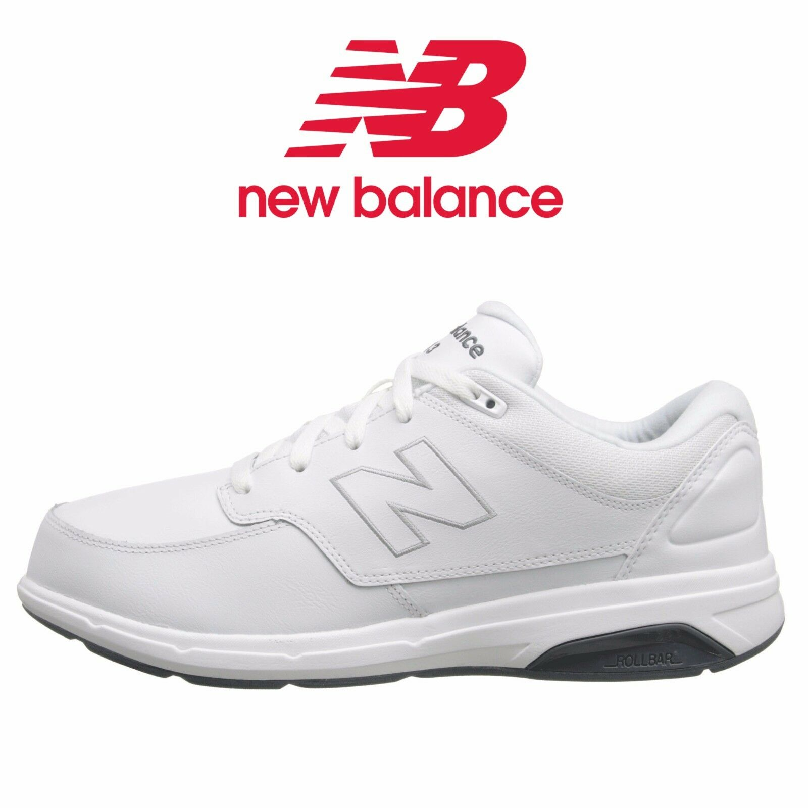 Mens New Balance MW813 Comfy Walking Shoe White Leather Leather Leather All SZs NIB MW813WT d97529