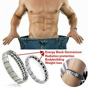Mens-Womens-Titanium-Steel-Magnetic-Therapy-Energy-Health-Energy-Bracelet-Gifts