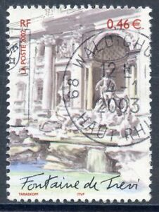 Bien Stamp // Timbre France Oblitere N° 3528 // Rome La Fontaine De Trevi Apparence Attractive