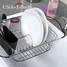 Over The Sink 3-In-1 Expandable Dish Rack Kitchen Drainer Holder Handles New
