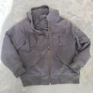 Details zu The North Face Grau Wollmischung Herren Jacke Mantel mit Kapuze Größe XL