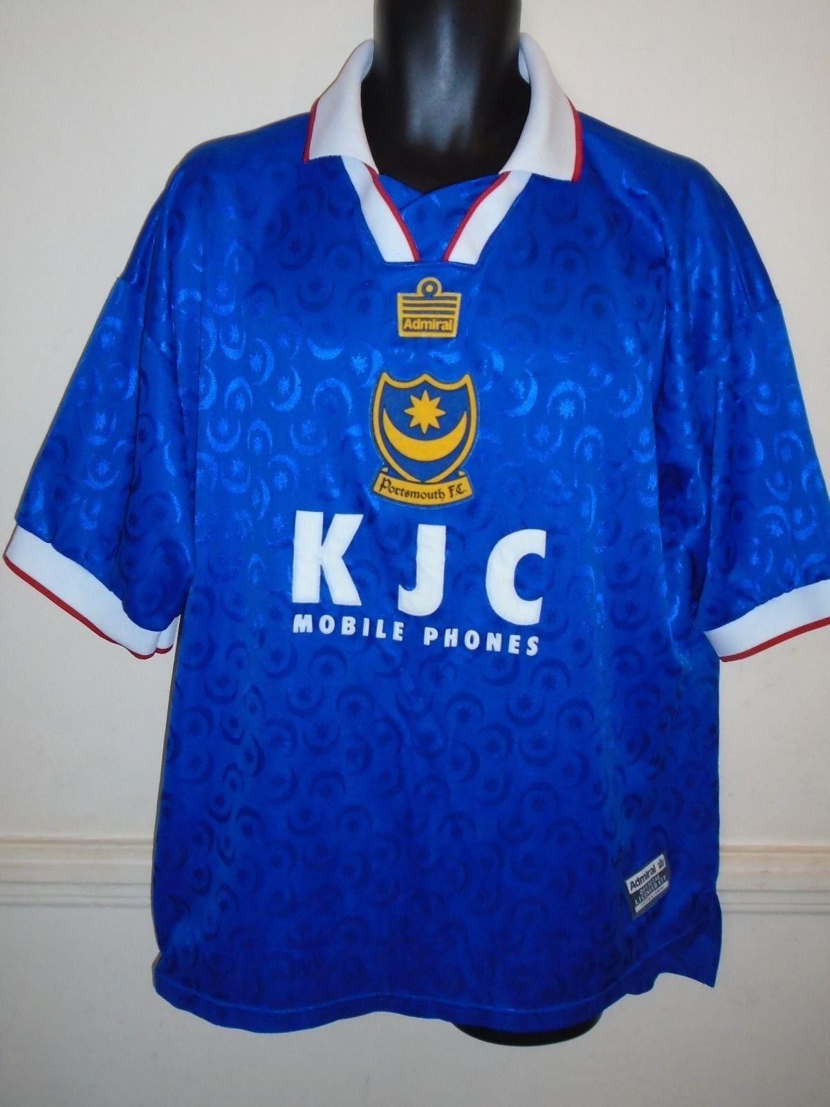 Raro Portsmouth Hogar Camiseta De Fútbol  1997-1999 XXL para hombres  1309  en venta en línea