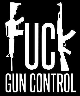 Laptop,Car,Truck,funny Piss On Gun Control Vinyl Die Cut Decal Window Pro Gun