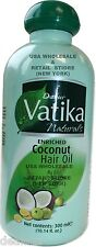 300ml 10.14 oz Dabur Vatika Coconut enriched Hair Oil Amla Henna USA Wholesale