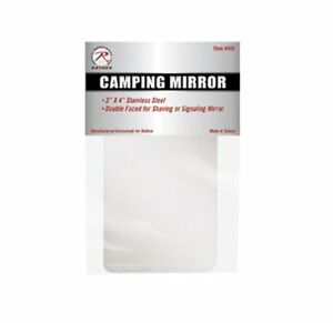 Rothco-498-Camper-039-s-Mirror-3-034-X-4-034-Stainless-Steel-double-Sided