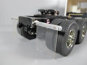 "Pair /""Toy/"" Aluminum Mud Flap Hanger Mount Tamiya 1//14 RC Semi King Grand Hauler"