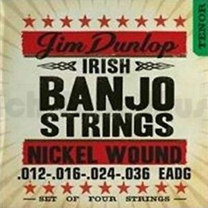 Dunlop Banjo Nickel Strings Irish-Tenor 4 String 012-036