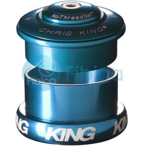 NEW CHRIS KING INSET 5 Threadless Headset 1 1//8-1.5 49mm Tapered Turquoise