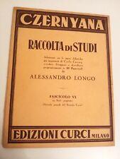 CZERNYANA - RACCOLTA DI STUDI - CARLO CZERNY - ALESSANDRO LONGO - FASCICOLO VI